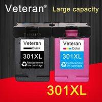 Veterano 301 XL Cartucho de tinta Veterano remanufacturado para DeskJet 2050 1000 1050 2510 3000 3054 Envy 4500 4502 Impresora