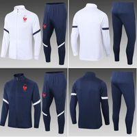 Top 2020 França Futebol Tracksuit Track Suits Grisezmann Jacket 2021 Pogba Chandal Mbappe Training Ternos Desgaste Desgaste