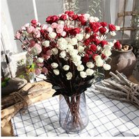 Dekoratif Çiçekler Çelenkler 15 Kafa Yapay Köpük Mini Güller Ev Oturma Odası Dekorasyon Sahte Düğün Sahne Düzeni POTRAGRA PROTS Birthda