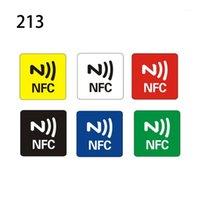 Tarjeta de control de acceso 6PCS NTAG216 / NTAG213 Etiquetas NFC Etiquetas Pegatina Teléfono Disponible Etiquetas adhesivas RFID Shipp1