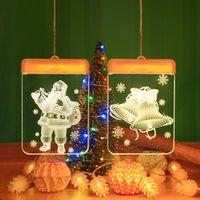 Forma de energía LED de ahorro de luces coloreadas del hogar del árbol de navidad del copo de nieve de la lámpara cadena Decorar en la sala de alféizar J2 9cy