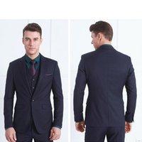 Smoking dello sposo Groomsmen su ordine colore puro Slim Fit Uomo abito da sposa / Tute sposo (Jacket + Pants + vest)
