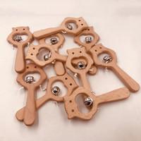 Bébé baby deher elm ours en bois hochet artisanat jouet molars nouveau-né enfant santé dentition jouets lls765-wll