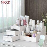 Micck Große Kapazität Kosmetische Aufbewahrungsbox Make-up Nagellack Container Schublade Organizer Dressing Tisch Hautpflege Rack Haus LJ200812