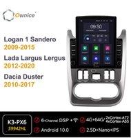 PROPIEDAD OCTA 8 Core Android 10.0 Radio de automóvil para Logan 1 SANDERO 2009-2020 GPS Multimedia Estéreo Playertesla Estilo 4G LTE