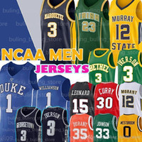 NCAA Zion 1 Williamson Stephen 30 Curry-Jerseys Ohrvin 33 Johnson College 3 Iverson Dwyane 3 Wade Männer Basketball Jersey 02