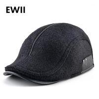 Sombrero de picos Earflaps Invierno Boinas Sombreros Para Hombres Cálido Newsboy Cap Boina Casquette Classic Vintage Flat Visor Caps Mujer1