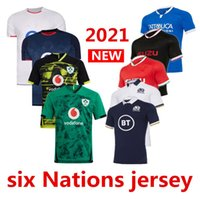 2021 Sechs Nationen Rugby Jersey Home Hemden Rugby Trikots Casual Sports Nations Rugby-Hemd