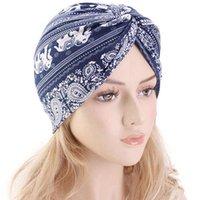 New Style Women Muslim Stretch Sun Hat Chemo Cap Hair Loss Head Scarf Wrap Hijib Comfortable Poncho Cap Soft Hats