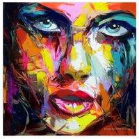 FRANCOISE NIELY PALETTE COUTEAU PORTRAIT PORTRAIT DE L'HUILE Peinture à l'huile Personnes peintes Figure Figure Toile Mur Art Image pour salon LJ201128