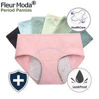 5 teile / los Menstruation physiologische Höschen Frauen Baumwolle Dichtestags-Slip Unterwäsche MA'Am-Periode Unterhose Sexy Wäsche 201112