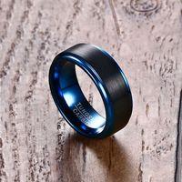 Modyle 2020 Nueva moda Hombres de tungsteno Marcas de boda Anillo de compromiso Punk Cool Accesorios Masculinos Regalos Joyas Venta al por mayor Y0122
