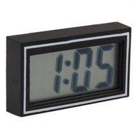 뜨거운 판매 미니 구멍 블블 전자 자동차 데스크 날짜 시간 달력 시계 디지털 LCD 자동 트럭 시계 대시 보드 1