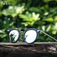 Sonnenbrille matic runde tr90 rahmen vintage retro luftfahrt für frauen pilot schwarz make up spiegel weibliche sonnenbrille marke designer1