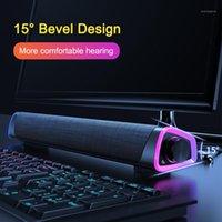 3D Surround Soundbar Bluetooth Speaker Stereo Bass 3.5mm Subwoofer Sub Sound Bar per Red MI TV TV Laptop PC Teatro AUX1