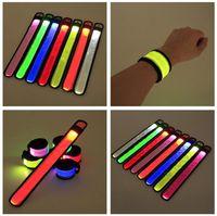 Nylon LED Sports Slap Wrist Strap Bands Wristband Light Flash Bracelet Glowing Armband Flare Strap Party Concert Armband