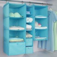 휴대용 옷 저장 매달려 가방 대용량 옷장 교수형 옥스포드 천을 세탁 가능한 옷 저장 가방 VTKY2317