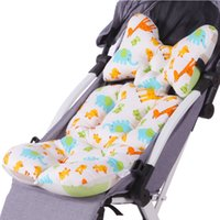 Baby Print Stroller Pad Car Seat Trolley Chair Cushion Pad Mattresses Pillow Cover Child Carriage Thicken Warm Cushion Hot Sale 201022