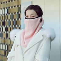 Kış Sıcak Big Eşarp Kadife Thickeed Doğa Sporları Kadın Yaratıcı Katı Renk Boyun Yüz Koruma Windproof Eşarp VT1801 Maskesi