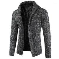 Suéteres para hombre Hombres Otoño Otoño Casual Chaqueta de invierno Hombres Punto Cardigan Moda Moda Suéter Flojo Caliente Tallas grandes Tops1