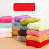 تدفئة ضبابي جوارب الشتاء السيدات الشتاء المرجان الصوف الجوارب المرأة جميلة منشفة الجوارب لون الحلوى سميكة الطابق بنات الحرارية السيدات سوك