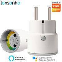 Lonsonho Tuya Smart Plug WiFi Smart Presa Smart Mini tipo F EU Plug 10A / 16A Automazione casa Lavori con Google Home Alexa1