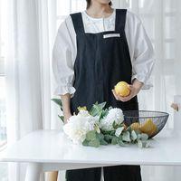 القطن الكتان الدنيم الطباعة المطبخ المئزر للنساء الطبخ الخبز مطعم المئزر تنظيف المنزل الملحقات 1