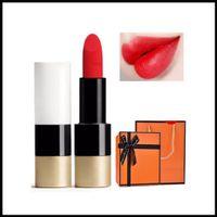 EPACK Dropshipping Top Quality Brand Satin Lipstick Rouge Matte Läppstift gjord i Italien 3.5g Rouge En Levres Mat 8 Färg med handväska