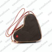 Oyun Coeur Mini Desinger Kırmızı Kalp M57456 Çanta Luxurys Tasarımcılar Vintage Çanta Messenger Omuz Crossbody Çanta Deri Kılıf