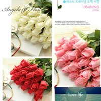 Free Shipping(11pcs Lot) Fresh rose Artificial Flowers Real Touch rose Flowers, Home decorations for Wedding Party or Birthday
