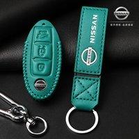 pour Nissan Sylphy Key Case Qijun Teana Jinke QASHQAI Bluebird voiture haut de gamme en cuir Boucle clé cas