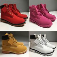 2020 Timberland boots nuevas botas de zapatos de alta calidad para mujer para hombre militar Castaño Triple Camo zapatos para caminar nieve del invierno cargadores de Martin