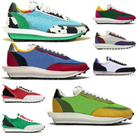 2021 Hot Run Sacais LDV Waffle Nylon Pegasus Vaporf Running Sports Shoes Sail Tour Gym Red Blanco Blanco Mujeres Hombres Amabreak Entrenadores Zapatillas de deporte