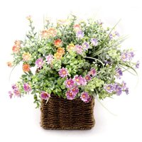 1pc petit chrysanthème avec herbe fleurs artificielles simulation fleurs pour fleurs jardin mariage maison bricolage décoration1
