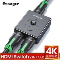 Audio Cables Connectors Esserager Splitter Switch BI-Направление 4k 2.0 Распределитель 1x2 / 2x1 Адаптер 2 в 1 Out Converter для PS5 PS4 HD TV Box1