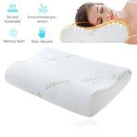 Espuma de la memoria de cama y almohada cuello ortopédico bambú dormir Beding Almohada ergonómica cómoda almohada cervical del cuello Protect