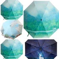 avm and Giftclear Full-automatic Umbrella Sun-proof High-grade umbrellas dome JH UV-proof Sun Umbrella Women Fashion Flower