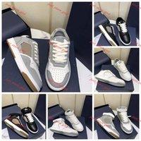 Dior B27 Uomini più recenti di qualità B2-7 Scarpe casual oblique Lin456 Sneakers in vera pelle da donna High Top Runner Trainer Stylist Scarpe Lowtop LaceUp
