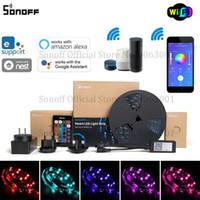 Sonoff L1 Smart LED Light Strip Dimmable Waterproof Wifi Flexível RGB RGB Luzes Trabalhe com Alexa Google Home, Dance com música