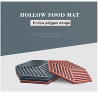 Hot Pad Stand Mug Cup Mat Heat-insulated Bowl Placemat Desktop Eco-friendly 1pcs Chic Sile Coaster Cup Hexa sqctSi