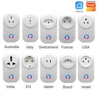 Genel Konut Kablosuz Güç Tak Enerji Monitör ABD AU UK Duvar Anahtarı Akıllı Yaşam APP Kontrol 2.4G WIFI Soket