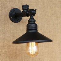 LOFT 4 Couleur Touch Touch Switch Noir Iron Vintage Tuyau d'eau Lampes de mur Lecture avec LED / Edison E27 Sconce Light for Home Cafe Bar