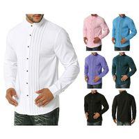 camiseta mens casual de negocios camisas de vestir camiseta de la moda de la aptitud masculina camisas de esmoquin ropa de hombre talla S-2XL