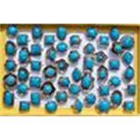 대형 티베트 부족 실버 ToneTurquoise 보석 반지 조정 가능한 크기 R105 새로운 보석 25factory / lot