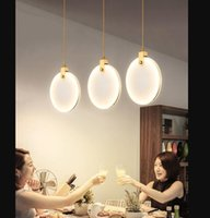 대리석 펜 던 트 라이트 주방 섬 다이닝 룸 LESD Lustre 노르딕 디자인 라운드 스톤 서스펜션 램프 비품