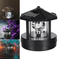 24V 태양 LED 회전 등대 빛 야외 방수 가든 마당 잔디 램프 조명 홈 장식
