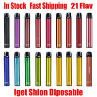 Original Kit Dispositivo iget Shion monouso Pod 600 Puff 400mAh 2,4 ml preriempita portatile Vape penna del bastone Bar Inoltre XXL Max 100% autentico