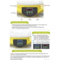 Mini 7 uova incubatore incubatore di pollame incubatore Brooder Digital Temperatura Aubatich Machine Hatcher per Chick Qyljeh Sports2010