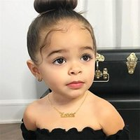 Pingente colares de aço inoxidável bebê jóias personalizar nome gargantilha garotas colar crianças crianças números menino personalizado