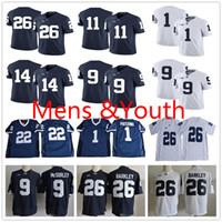 Mensyouth Saquon Barkley Trace McSorley Micah Parsons Miles Sanders Joe Paterno Blue White Kids Penn State Nittany College Football Trikots